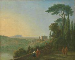 Lake Nemi and Genzano from the Terrace of the Capuchin Monastery | Richard Wilson