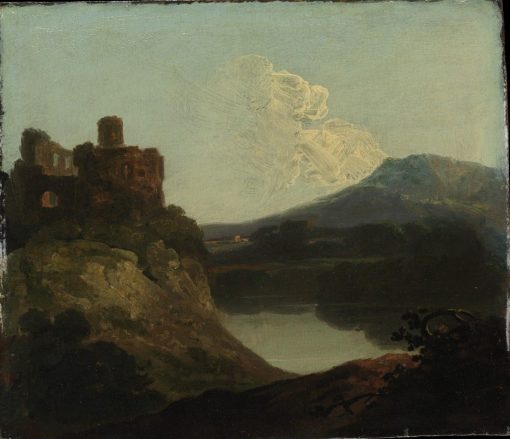 Welsh Landscape with a Ruined Castle by a Lake   Richard Wilson