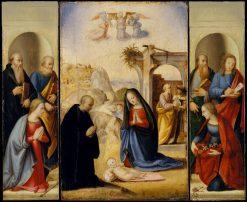 The Nativity with Saints | Ridolfo Ghirlandaio | Oil Painting