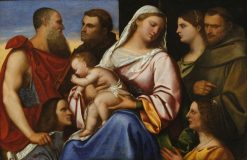 Madonna and Child with Saints and Donors | Sebastiano del Piombo | Oil Painting