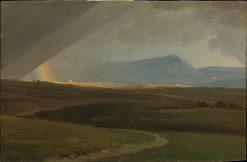 Landscape near Rome during a Storm | Simon Denis | Oil Painting