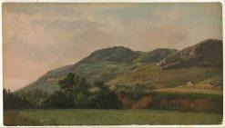Mountainous Landscape at Tivoli | Simon Denis | Oil Painting