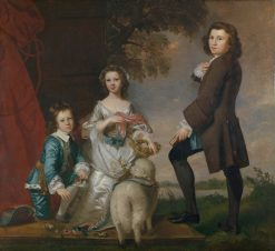 Thomas and Martha Neate with Their Tutor | Sir Joshua Reynolds | Oil Painting