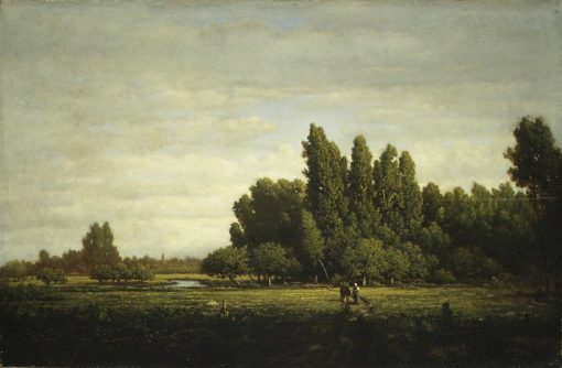 A Meadow Bordered by Trees | ThEodore Rousseau | Oil Painting