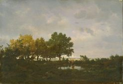 The Pond (La Mare) | ThEodore Rousseau | Oil Painting