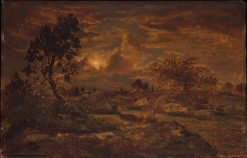 Sunset near Arbonne | ThEodore Rousseau | Oil Painting