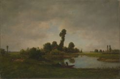 A River Landscape | ThEodore Rousseau | Oil Painting