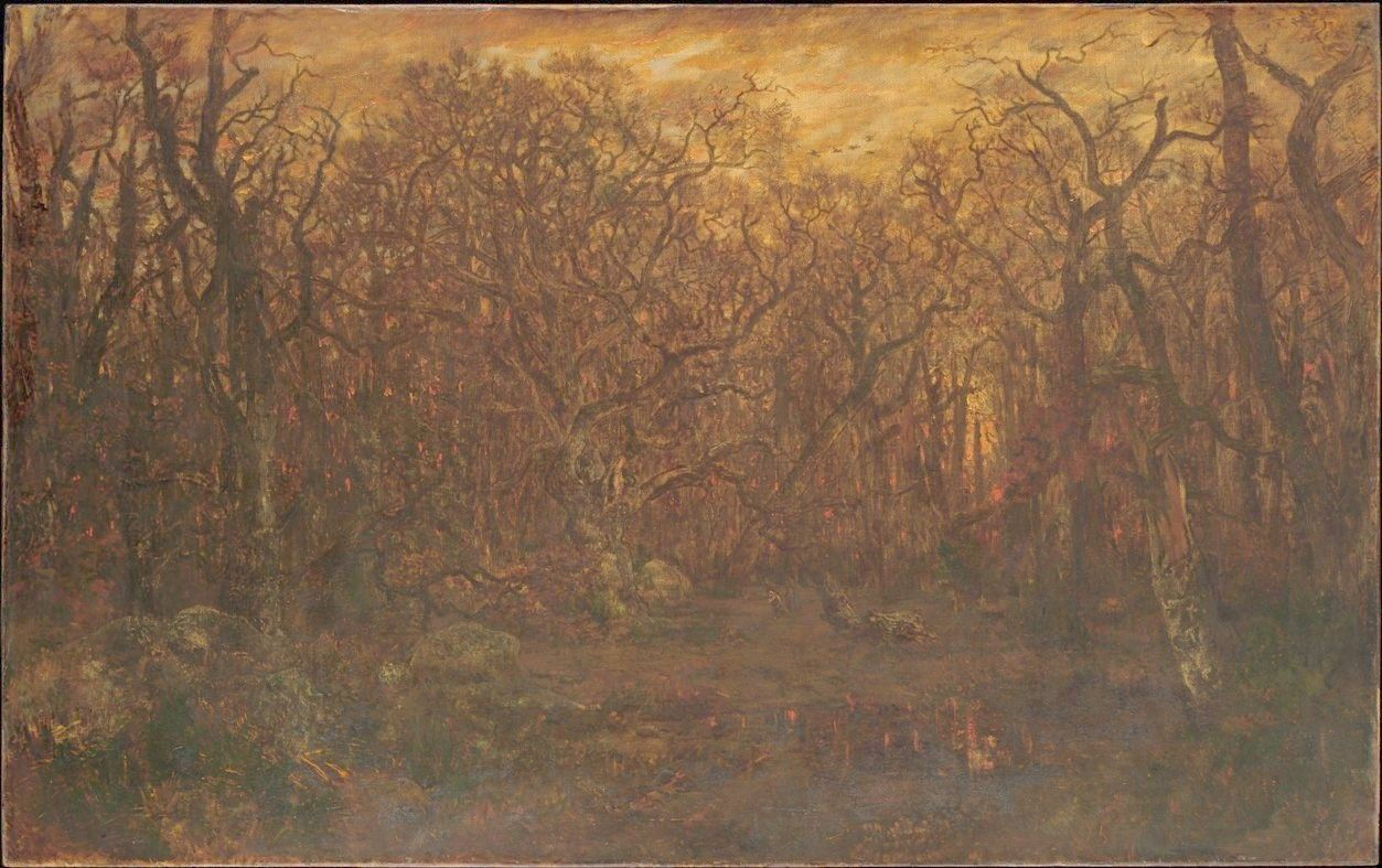 The Forest in Winter at Sunset | ThEodore Rousseau | Oil Painting