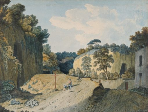A Road in a Gorge near Naples | Thomas Jones | Oil Painting