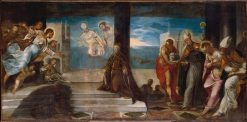 Doge Alvise Mocenigo (1507-1577) Presented to the Redeemer | Tintoretto | Oil Painting