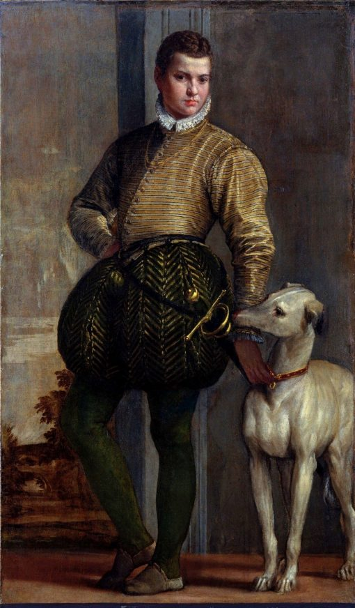 Portrait of a Boy with a Greyhound | Veronese | Oil Painting