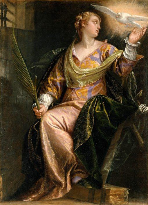 Saint Catherine of Alexandria in Prison | Veronese | Oil Painting
