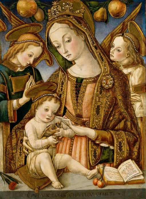 Madonna and Child with Two Angels | Vittore Crivelli | Oil Painting