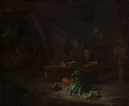 Interior of a Kitchen | Willem Kalf | Oil Painting