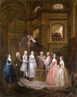 The Wedding of Stephen Beckingham and Mary Cox   William Hogarth   Oil Painting