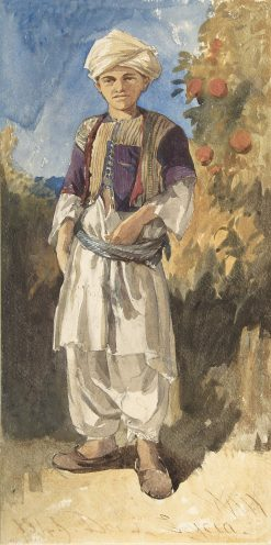 Standing Turkish Youth | William James Muller | Oil Painting