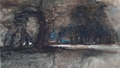 A Woodland Scene at Dusk | William James Muller | Oil Painting