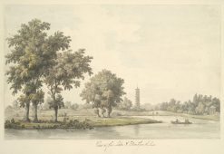 View of the Lake and the Island from the Lawn at Kew | William Marlow | Oil Painting