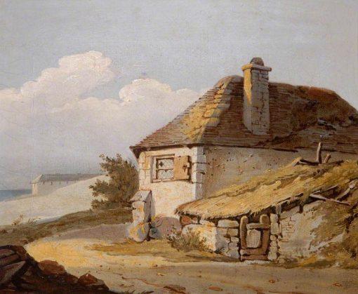 Farm Scene No.1   Samuel Prout   Oil Painting
