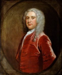 Portrait of an Unknown Gentleman in a Red Coat | Joseph Highmore | Oil Painting