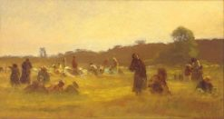 The Cranberry Pickers (A Study) | Eastman Johnson | Oil Painting