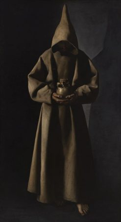 Saint Francis of Assisi in His Tomb | Francisco de Zurbaran | Oil Painting