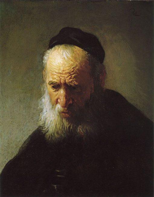 Head of an Old Man | Rembrandt van Rijn | Oil Painting