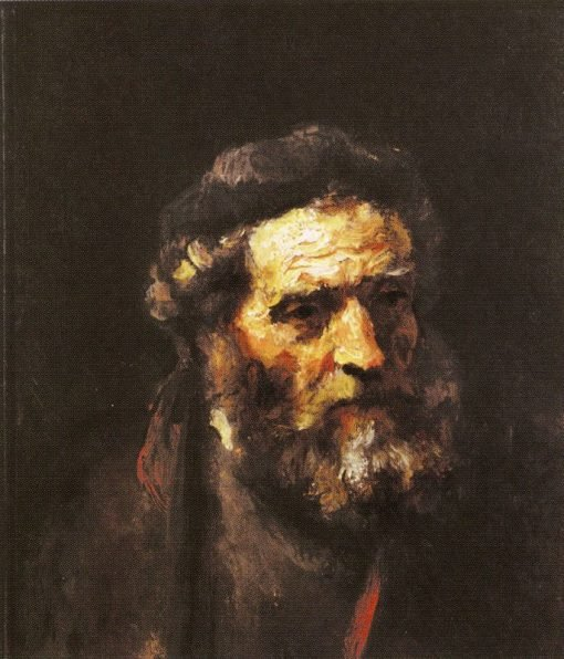 Head of a Bearded Man (attributed) | Rembrandt van Rijn | Oil Painting
