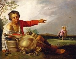 Shepherd Boy Pointing at Tobias and the Angel | Abraham Bloemaert | Oil Painting