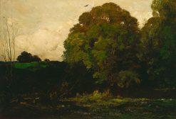 A Pond in Morvan   Charles Francois Daubigny   Oil Painting