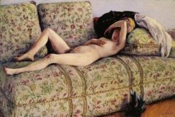 Nude on a Couch | Gustave Caillebotte | Oil Painting