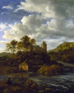 Castle and Watermill by a River | Jacob van Ruisdael | Oil Painting