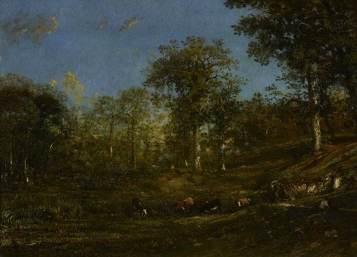 View of the Pastures of the Limousin   Jules DuprE   Oil Painting