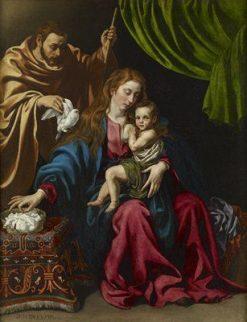 Holy Family | Luis Tristan de Escamilla | Oil Painting