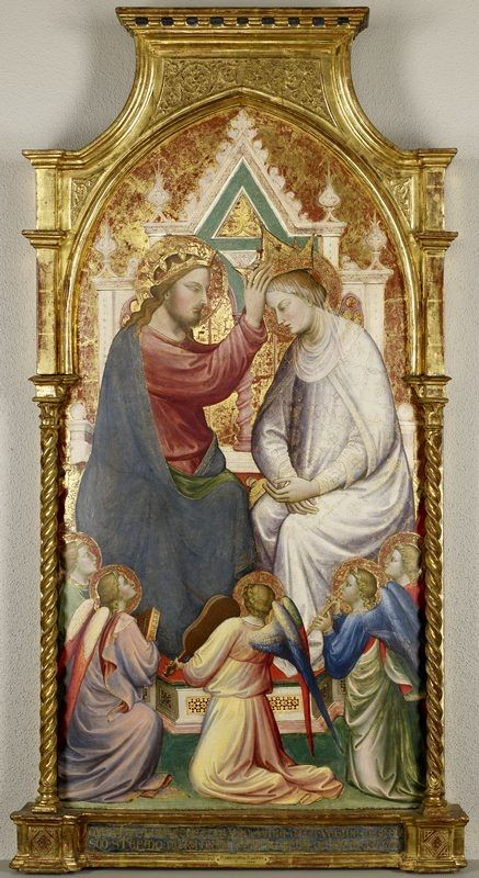 The Coronation of the Virgin with Five Music-Making Angels | Mariotto di Nardo | Oil Painting