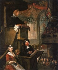 The Sleeping Congregation | William Hogarth | Oil Painting