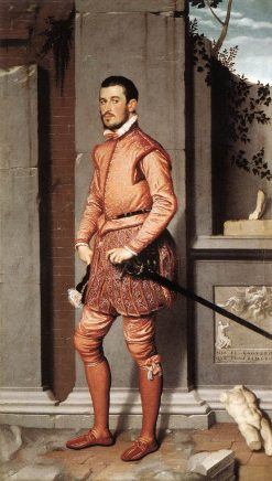 The Gentleman in Pink | Giovanni Battista Moroni | Oil Painting
