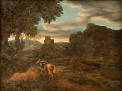 Landscape with Two Horsemen | Gaspard Dughet | Oil Painting