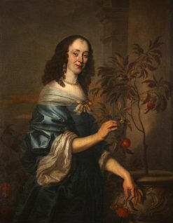 Portrait of an Unidentified Woman in a Blue Dress | Abraham van den Tempel | Oil Painting