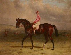 Broomilaw' with Jockey on Epsom Downs | Harry Hall | Oil Painting