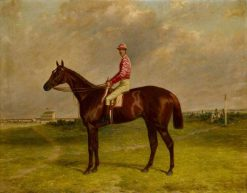 Hermit' with Jockey at Epsom | Harry Hall | Oil Painting