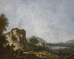 Classical Landscape with Monks Praying before a Ruin | Richard Wilson