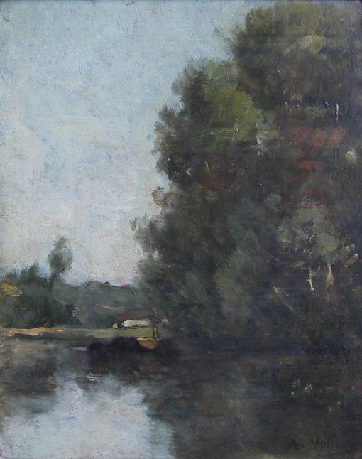 River Landscape | Antoine Vollon | Oil Painting