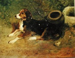 Dog Resting | Alexandre Gabriel Decamps | Oil Painting