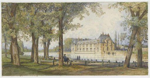 Le Petit Chateau de Chantilly | Auguste Paul Charles Anastasi | Oil Painting