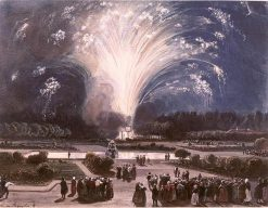 Fireworks at Fontainbleau for the Marriage of the duc de Chartres