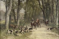 The Duc d'Orleans on a Chase | Charles Olivier de Penne | Oil Painting