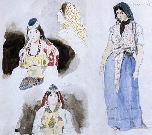 Moroccan Women | Eugene Delacroix | Oil Painting
