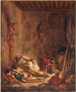 Bodies of Moroccan Guards at Meknes(also known as Le corps de garde Marocain a Meknes) | Eugene Delacroix | Oil Painting