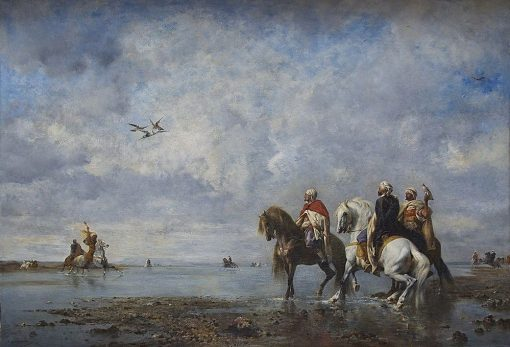 Hunting Heron in Algeria | Eugene Fromentin | Oil Painting